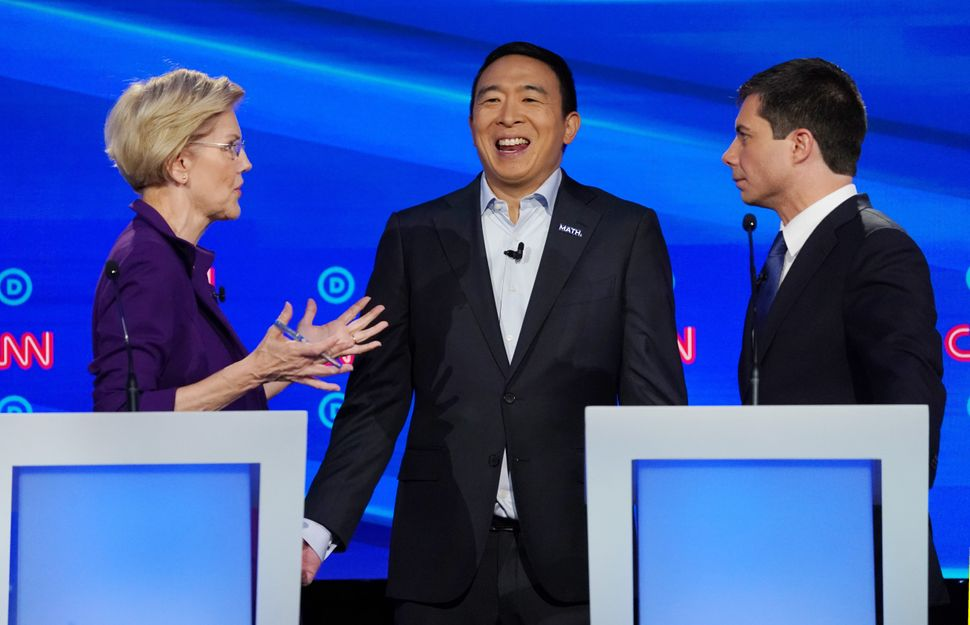 Buttigieg's attacks on Warren over health care at the October debate damaged her standing in the race. Andrew Yang did
