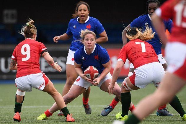 Le XV de France féminin, ici face au Pays de Galles le 23 février 2020, ne jouera pas contre l'Écosse...