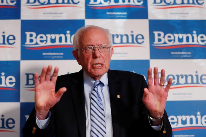 U.S. Democratic presidential candidate Bernie Sanders addresses the media in Phoenix, Arizona, on Friday.