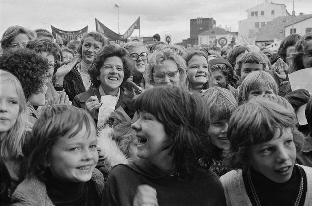 1975年、アイスランド女性によるストライキ