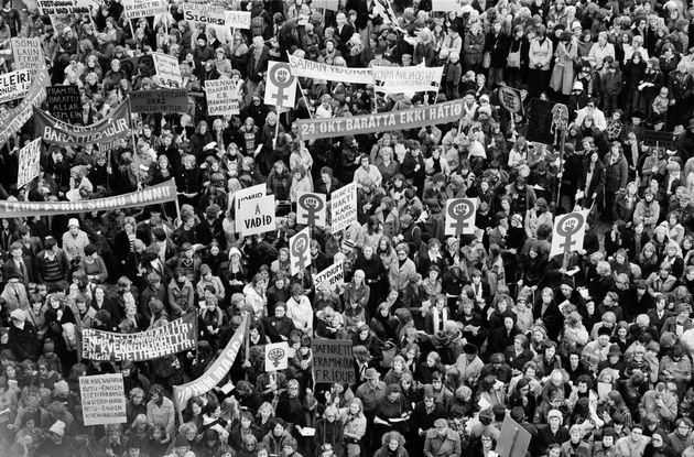 国中の女性がストライキを起こした日。1975年、アイスランドの「女性の休日」【画像集】