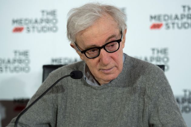 US director Woody Allen holds a press conference in the northern Spanish Basque city of San Sebastian,...