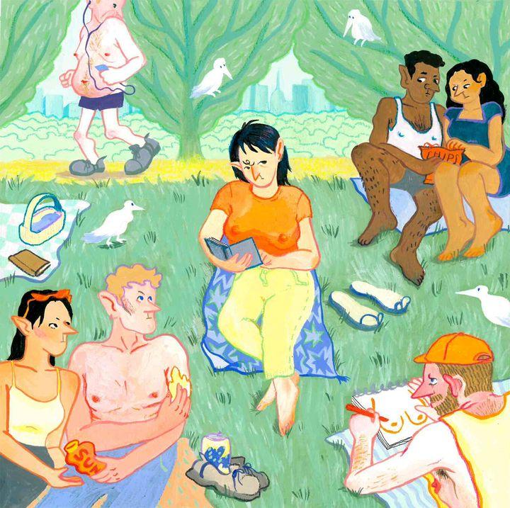 Artist Hyunsun Park illustrated the double standard women face regarding their nipples.