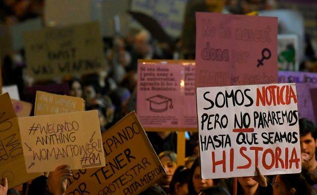 Imagen de archivo de una marcha feminista en
