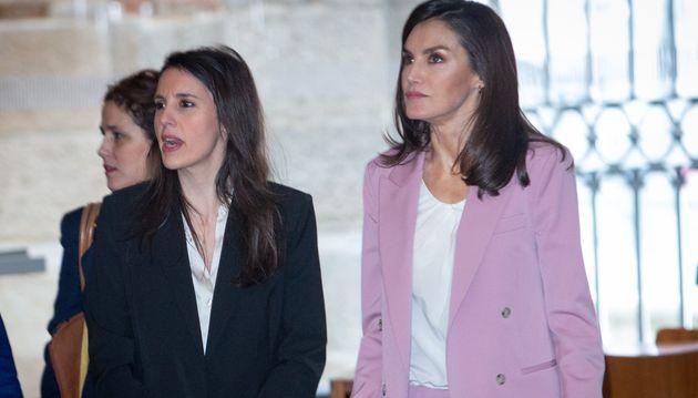 La ministra Irene Montero y la reina