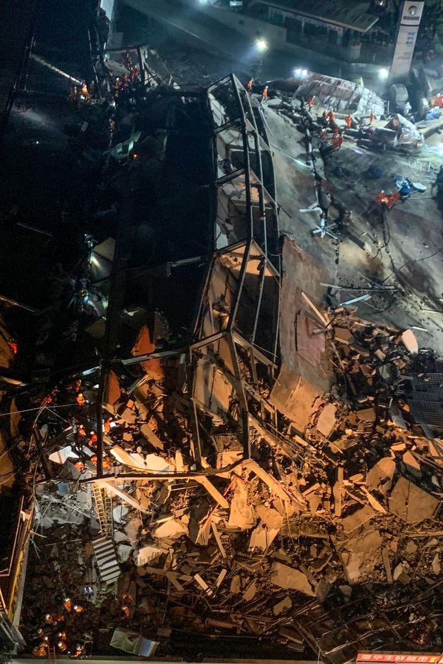 중국의 '신종 코로나' 수용 시설 매몰