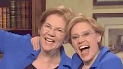 Real Elizabeth Warren Pops Up On 'SNL' To Brag About Giving Mike Bloomberg 'A