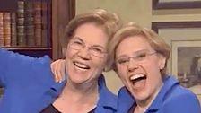 Echte Elizabeth Warren taucht in 'SNL' Zu Prahlen, Geben Mike Bloomberg 'Ein Swirly'