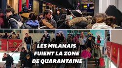 Des Milanais se ruent à la gare pour quitter la ville avant le début de la