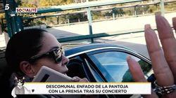 Altercado de Isabel Pantoja con la prensa tras su polémico