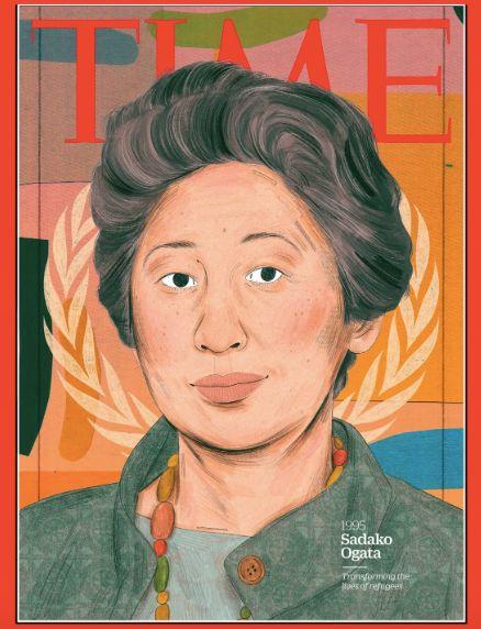 1995年の「今年の女性」に選ばれた緒方貞子氏