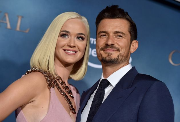 Katy Perry and Orlando Bloom attend the LA Premiere of Amazon's