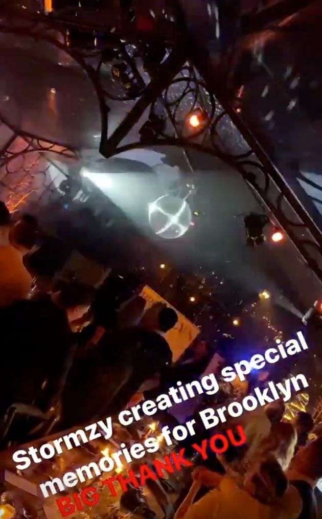 Stormzy also performed at Brooklyn Beckham's 21