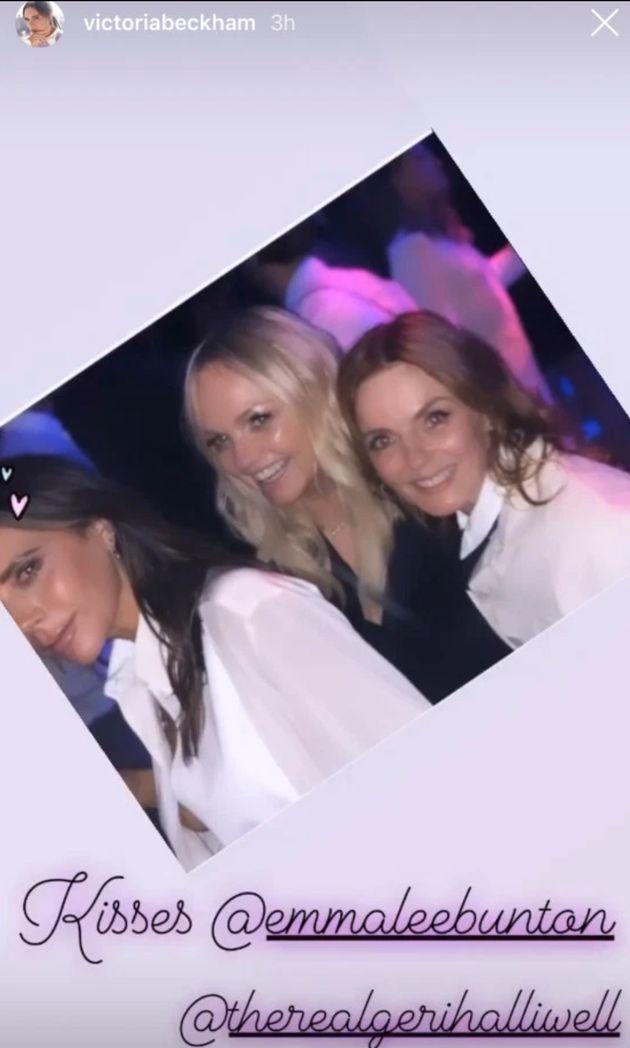 Victoria with Emma Bunton and Geri