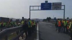 Agricultores y ganaderos de Ciudad Real cortan autovías y el tren contra la situación