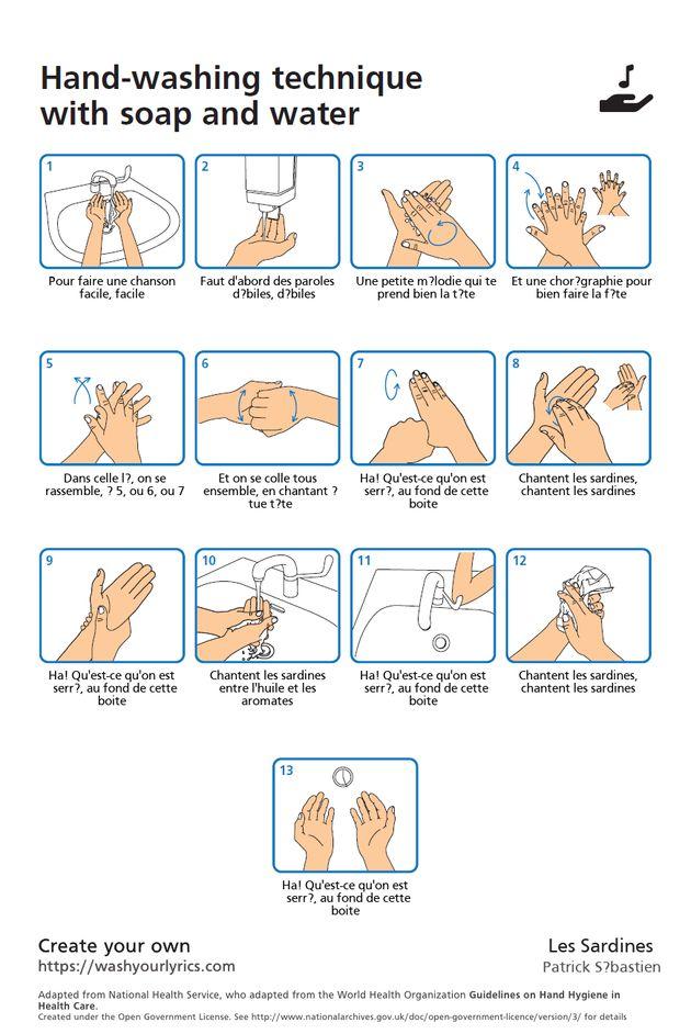 Pour bien se laver les mains, ce site a trouvé une solution