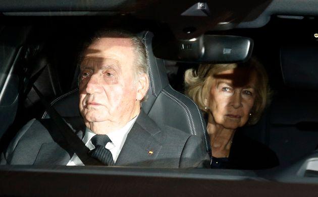 Juan Carlos I y Sofía de Grecia en el funeral de Pilar de Borbón, el pasado 29 de