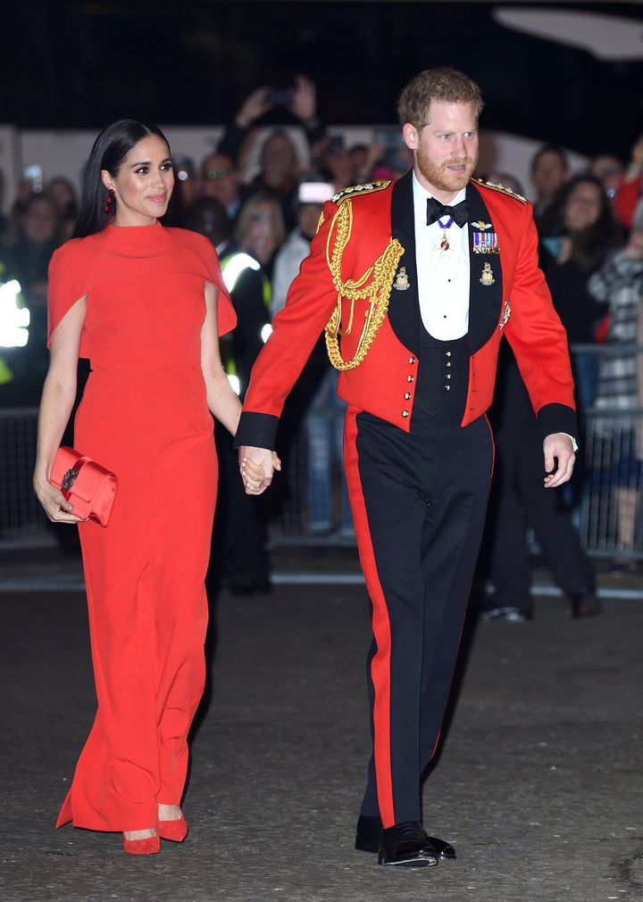 Meghan and Harry attend the Mountbatten Festival of Music at Royal Albert Hall on March 7, in London.