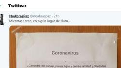 El delirante cartel sobre el coronavirus que triunfa en