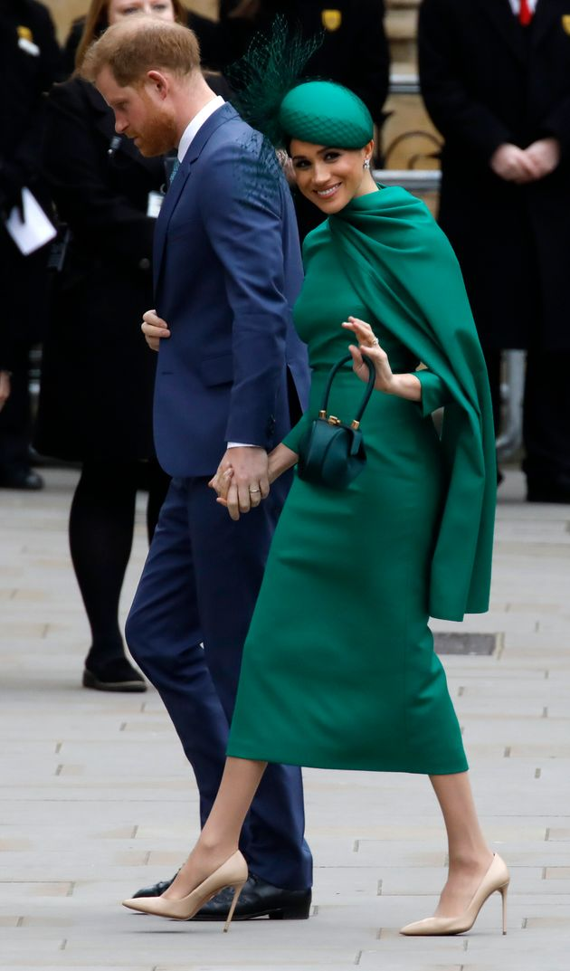 The Duke and Duchess of Sussex arrive to attend the annual Commonwealth Service at Westminster Abbey...
