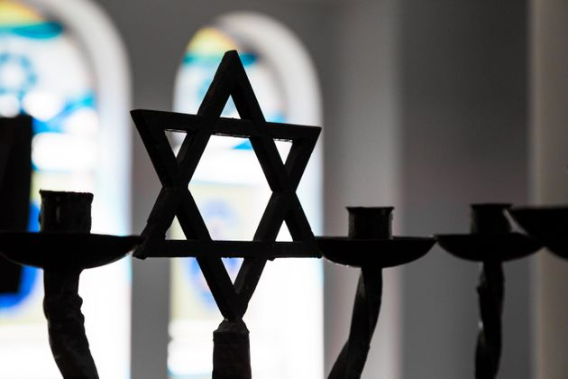The star of David inside a synagogue.