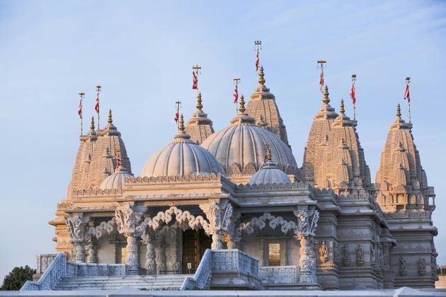 Exterior Of Neasden Temple, which has cancelled events amid the coronavirus outbreak.
