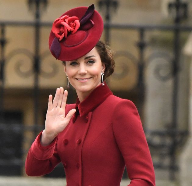 The Duchess of Cambridge arrives at the Commonwealth Service at Westminster