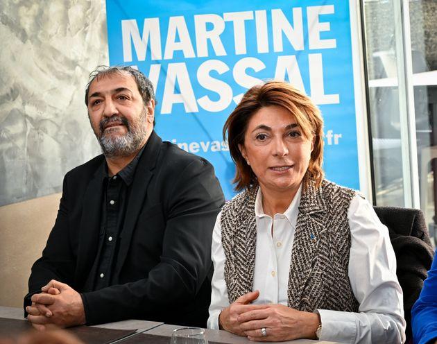 Martine Vassal, candidate LR à Marseille en compagnie du comédien Moussa