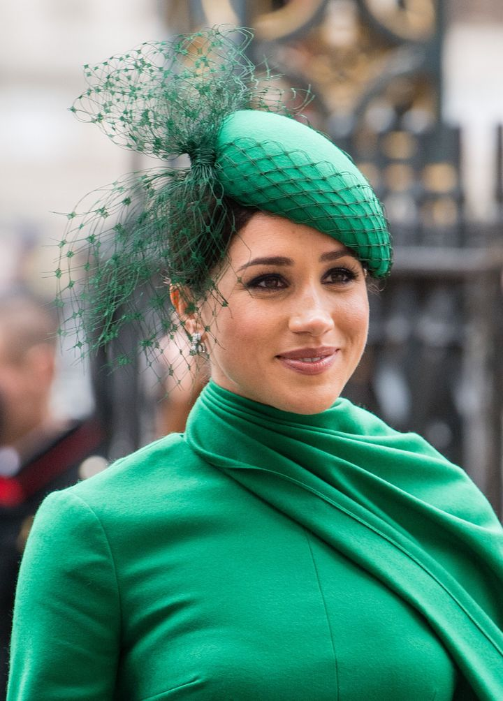 The Duchess of Sussex attends the Commonwealth Day Service on Monday.