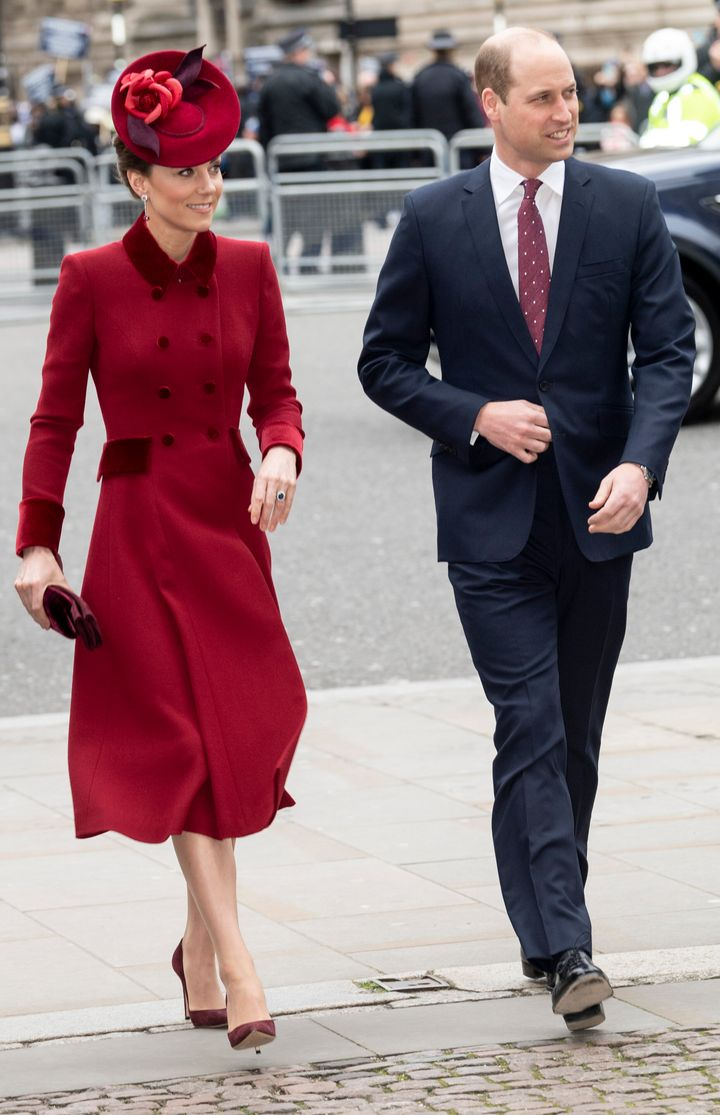 The Duke and Duchess of Cambridge attend the Commonwealth Day Service on Monday, March 9, 2020.