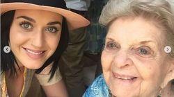 Katy Perry adresse un message poignant à sa grand-mère morte à 99