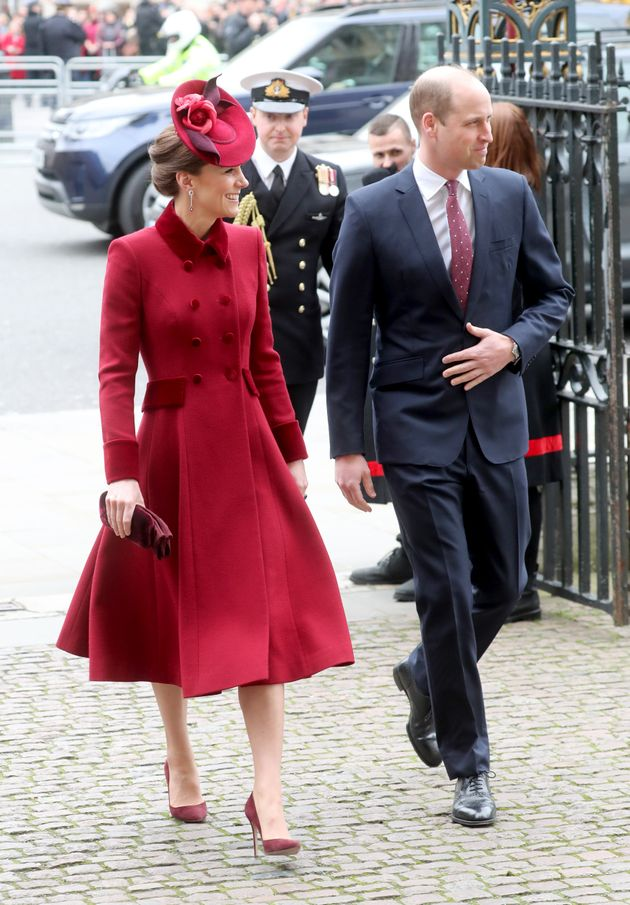 The Duke and Duchess of Cambridge attend the Commonwealth Day Service 2020 at Westminster Abbey on March...