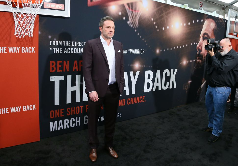 "Ben Affleck on the red carpet for the premiere of ""The Way Back"" in Los Angeles on March 1, 2020."