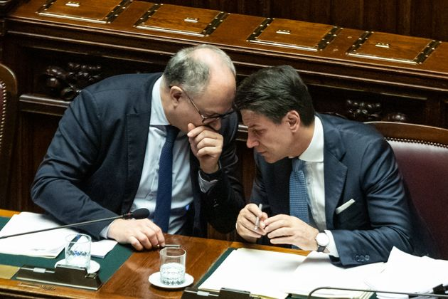 ROME, ITALY - 2019/12/02: Italian Prime Minister Giuseppe Conte and Italian Minister of Economy and Finance...