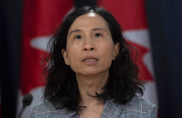 Dr. Theresa Tam, Canada's chief public health officer, addresses the media during a news conference Monday...