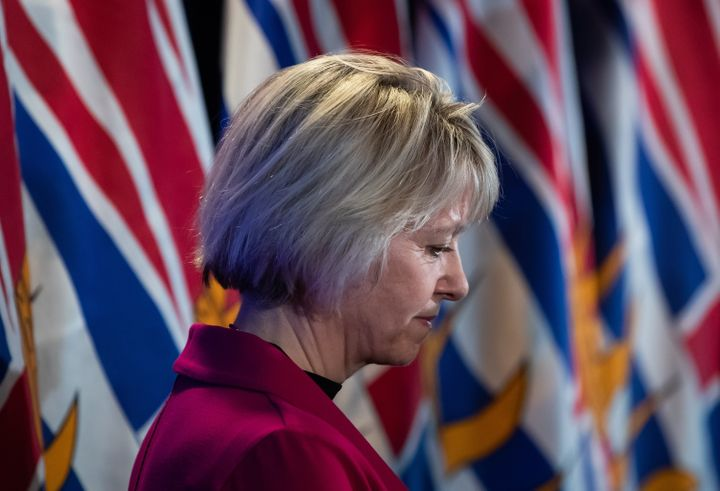 Provincial health officer Dr. Bonnie Henry during a news conference about coronavirus, in Vancouver, on March 6, 2020.