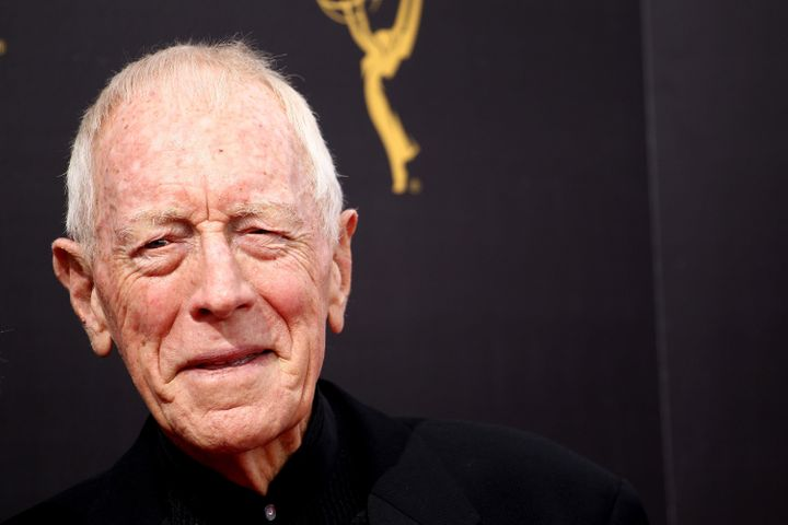 Max von Sydow attends the 2016 Creative Arts Emmy Awards held at Microsoft Theater on September 10, 2016 in Los Angeles, Cali