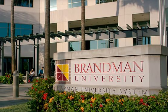 Brandman University's campus in San Diego. Most of the university's classes in California and Washington...