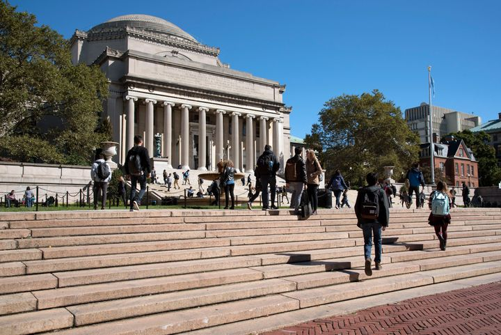 Columbia University in New York City suspended classes for two days to prepare for online instruction.