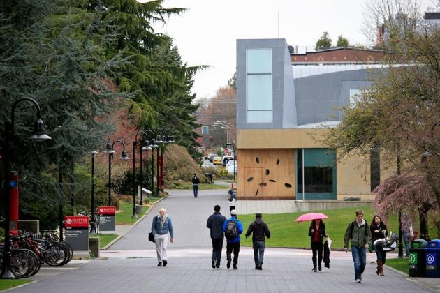 Seattle University campus suspended in-person classes on March 9 after several coronavirus cases were...