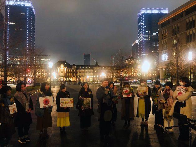 東京駅周辺に集まった参加者たち