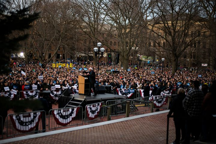 More than 10,000 came out to see Sen. Bernie Sanders at the University of Michigan in Ann Arbor, according to official estima