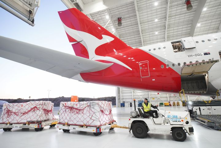 Qantas has slashed 25% of its services amid coronavirus panic (Photo by Randy Shropshire/Getty Images for Qantas)
