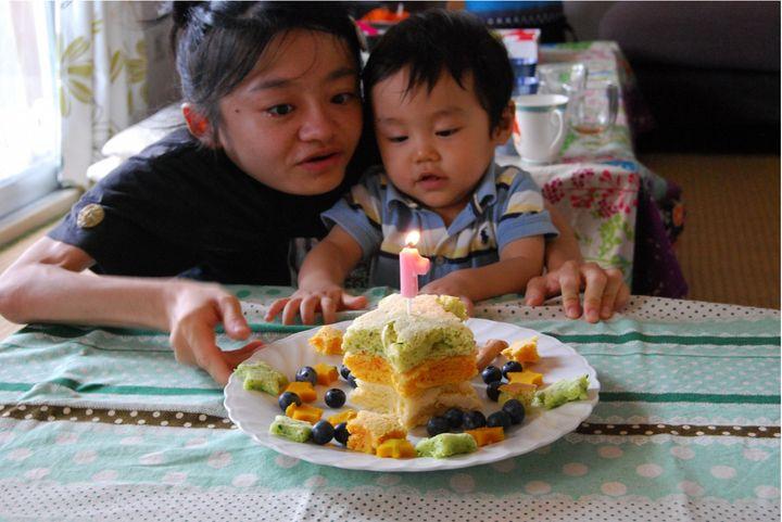 ムスコくんの1歳の誕生日