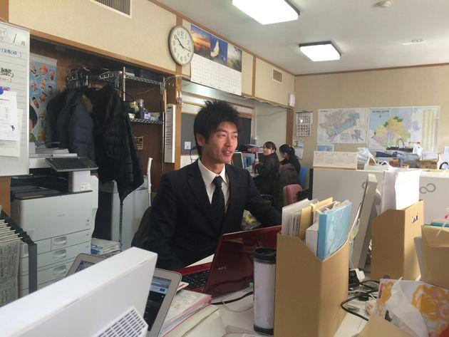 出向先だった東松島市役所内の復興政策課兼東松島みらいとし機構での業務風景