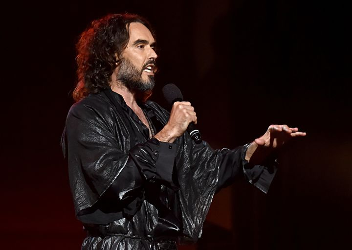 Russell Brand has also recently canned a gig in Australia. (Photo by Lester Cohen/Getty Images for The Recording Academy )