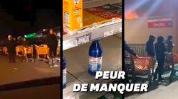 En Italie, les images des supermarchés pris