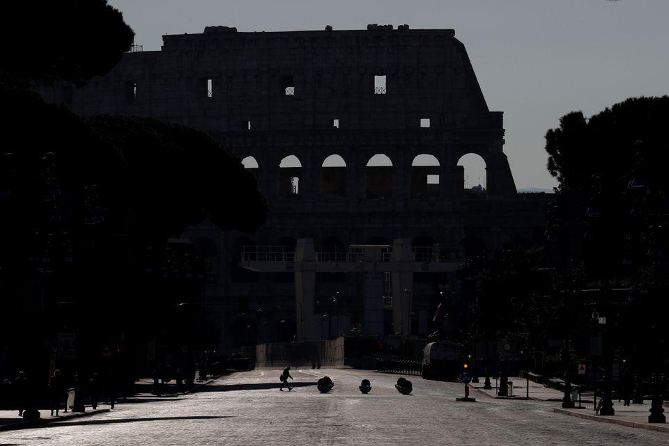 Το Κολοσσαίο στη Ρώμη...