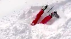 Skier Finds Someone Buried Alive In Snow, Films Dramatic Rescue