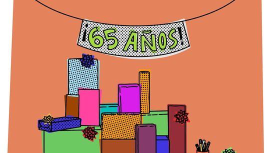 INSTRUCCIONES PARA celebrar el 65 cumpleaños de tu